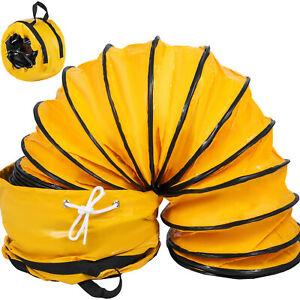 25FT/7.6m PVC Flexible Ducting w/Bag Φ12Inch Ventilator Fan Industrial Pipe