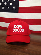 Dow 30000 Red Hat Dow 30,000 Red Cap DJIA Stock Market 30000 30,000