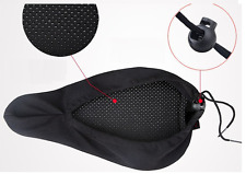 3D Sponge Pad Seat Saddle Cover Cycling Bicycle Bike  Soft Cushion By Air Black
