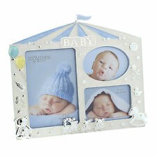 Silver Plated / Enamel Photo Frame Ideal Christening Gift.Choose Pink or Blue.