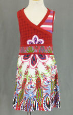347 Desigual girl multi-color graphic Dress with flowers EUC Size 7-8
