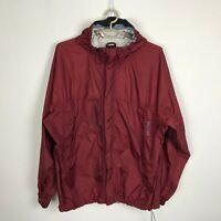 Marmot Windbreaker Jacket Size XL Maroon Hooded Nylon Mens Lightweight