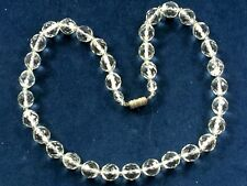 Faceted Glass Necklace 1930s Deco Crystal Clear