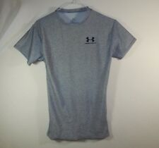 Under Armor Boys Athletic T Shirt Gray Size YOUTH SMALL S