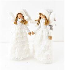 bambola angelo decora albero vetrina fermaporta cerimonia fiori shabby h 32 cm