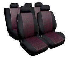 Cubiertas de asiento de ajuste Ford Fiesta Mk5 Mk6 Mk7 Set Completo Negro/Rojo