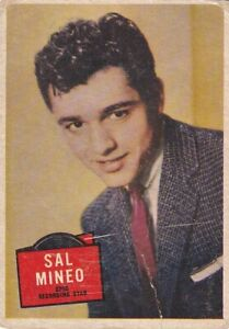 "SAL MINEO - 1957 TOPPS "" hit stars ""  RECORDING/ACTING   stars card"