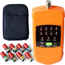 8 Way Coaxial Cable Mapper Finder -Tracker Tracer Toner- CCTV Aerial F Connector