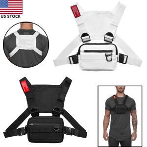 Men Chest Rig Vest Outdoor Harness Bag Hiking Pouch Crossbody Shoulder Bag Sport