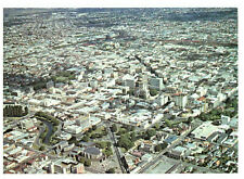 Christchurch Aerial View, South Island New Zealand Rare Postcard Posted