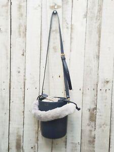 INYATI Bucket Bag In Navy - Was Selling At Anthropologie