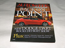 Autoweek January 2012 Car Truck Magazine NEW Dodge Dart Rocks Detroit Show