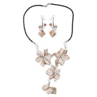 Stainless Steel Hypoallergenic Earrings Necklace Jewelry Set Gift for Women