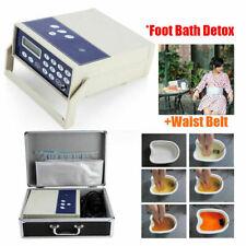 Ion Cell Detox Ionic Foot Bath Spa Cleanse Footbath Machine with LCD Waist Belt