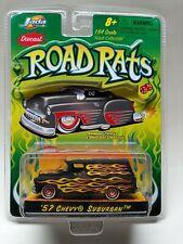 Jada Road Rats 1957 '57 Chevrolet Chevy Suburban Black w/ Flames Die Cast 1/64