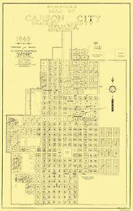 Carson City Nevada Plat - Curtis 1948 - 23 x 36.44