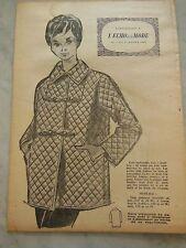 ancien PATRON echo de la mode 1960 veste matelassé taille 44 jamais utilisé