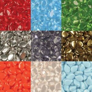 Pip Beads 5x7mm Pressed Czech Glass Tiny Petal Fringe Drop Bead 23 Colors U-Pick