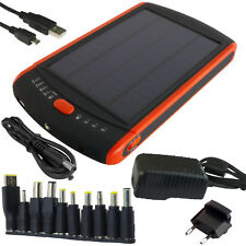 Solar charger 2.5W Power bank 23000mAh Li-Poly LED Laptop Tablet Phone PowerNeed