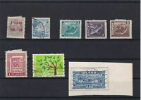 ISLAND   STAMPS ON STOCK CARD  REF 1564