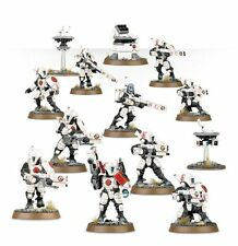 Warhammer 40K Tau Empire 10 Man Fire Warrior Team with 2 Drones and Turret New