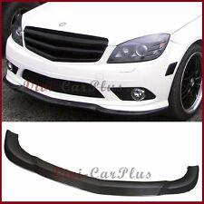 3K Carbon Fiber C Look Front Spoiler Lip Fit W204 08-11 C-Sport Sedan AMG Bumper