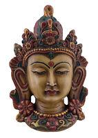 Estatua Tibetano Del Cara de Tara de Pared de Resina 16 Cm-Beige 1588 GAR3