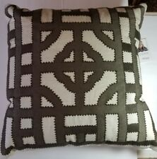 "Beth Lacefield by SURYA  LD053-2020 Geometric Throw Pillow 100% Linen 18""x18"""