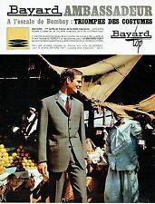 Publicité Advertising 037  1966  Bayard costume homme Ambassadeur à Bombay