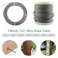 1/8'' Stainless Steel Aircraft Wire Rope Cable Railing Kit Balustrade Handrail