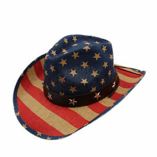 Women Men Straw Hollow Western Cowboy Westworld Cowgirl Jazz Hat Sombrero Cap