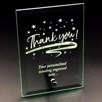 Thank you Sentiment Personalised Engraved Glass Plaque THANK-GP