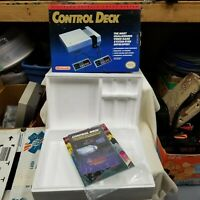 Nintendo Entertainment System NES Control Deck Box Styrofoam & Manuals NO SYSTEM