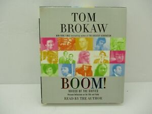 Boom! Voices of the Sixites by Tom Brokaw Audio Book Read by the Author CD