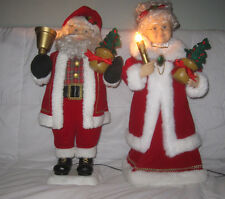 "Telco Motion-ettes 24"" Christmas Lighted & Animated Santa & Mrs. Clause W/ Box"
