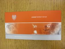 circa 1998 Arsenal: Champions League Ticket Wallet (Empty). This item has been i