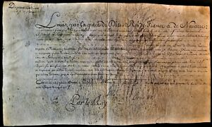 LOUIS XVI AUTOGRAPH - LETTER OF EXEMTION FROM ALLIANCE FOR L.E. RESSEGUIER 1778