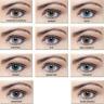 Farbige Jahreslinsen Kontaktlinsen Blau / Grün / Braun ohne Stärke weiche Linsen