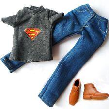 Barbie ken Doll Clothes Superman T-shirt Jeans Pants Set Shoes For KEN Dolls