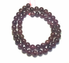 "15"" NATURAL Red Rutilated Strawberry Quartz Round ~50 Beads 8mm K7952"