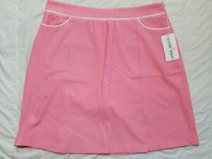 1 NWT CATHERINE WINGATE WOMEN'S SKORT, SIZE: 10, COLOR: PINK/WHITE (J186)