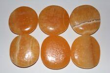 Orangencalcit,Orangen Calcit Scheibensteine / Taschensteine ca.30 bis 40 mm