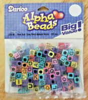 Darice Alpha Beads ~ 6mm ~ Multi-color with Black Letters ~ 160 Pcs ~ NEW!