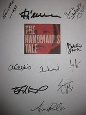 The Handmaid's Tale Signed TV Script X10 Elisabeth Moss Alexis Bledel Fiennes RP
