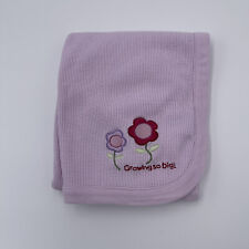 Baby Connection Light Purple Thermal Waffle Weave Baby Blanket Growing So Big