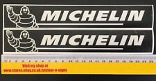 2x Black 220mm x 34mm Michelin Stickers Decal Sticker