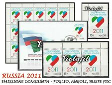 Russia 2011 Emissione congiunta Italia Russia scambio culturale