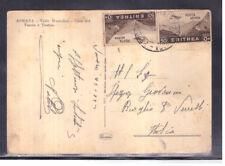 Cartolina Eritrea per Italia 2x 50 c Posta Aerea 1936 WA285