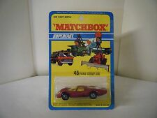 "Matchbox No: 45 ""Ford Group Six"" - Red (RARE U.S. BLISTER PACK/Original 1971)"