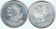 1000 Zl Silbermuenze 1982 Jan Pawel II Papst 14,5 gr Silber!,TOP Zustand,